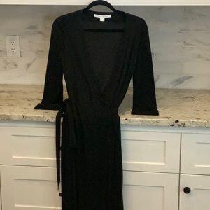 Black wrap dress Diane von Furstenberg size 8